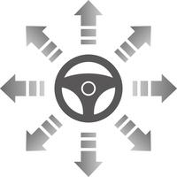 ハンドルと矢印