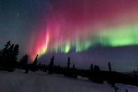 アラスカ フェアバンクスのオーロラ