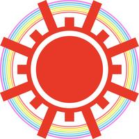 太陽と虹の輪