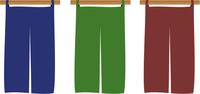 三色の暖簾