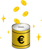 ユーロの貯金箱