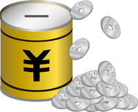 円の貯金箱
