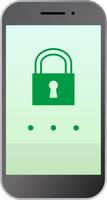 スマートフォンのロック画面