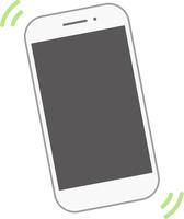 振動するスマートフォン