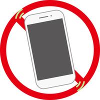 スマートフォン禁止標識