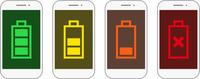 スマートフォンの電池残量セット