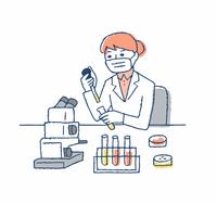 実験室 臨床検査 女性