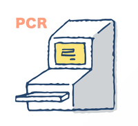 ウイルス検査イメージ PCR法検査機器
