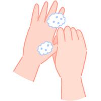 手の洗い方 親指の根元を洗う