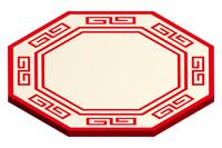 中華風の八角プレート
