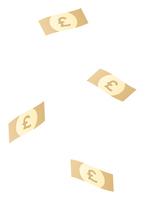 落ちてくるポンドの紙幣