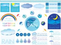 梅雨の素材セット