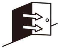 ドアと矢印