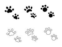 犬と猫の足跡マーク