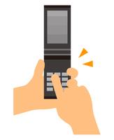携帯電話を操作する