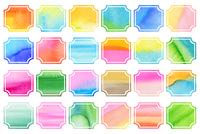 カラフル水彩フレームセット