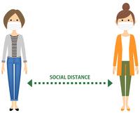 ソーシャルディスタンス 社会的距離