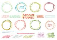 手描きクレヨンの小さなフレームセット