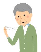 体温測定 高齢者 シニア男性