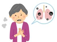 肺炎 高齢者 シニア女性
