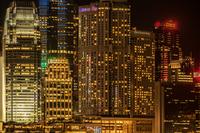 ビクトリア・ハーバーから見える香港の夜景