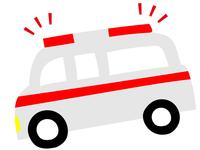 日本の救急車のイラスト