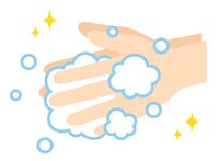 手洗い 手と泡