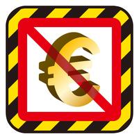 ユーロ記号と禁止マーク