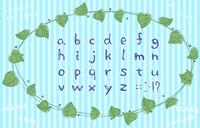 手書きのアルファベット文字のセット