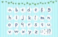 手書きのアルファベット文字のセット、切り抜
