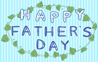 見出し文字、HAPPY FATHER'S DAY