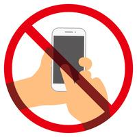 スマートフォン使用禁止マーク