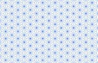 透過背景の青地に白い掠れ模様の和柄:麻の葉