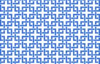 透過背景の青地に白い掠れ模様の和柄:角繋ぎ