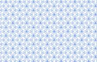 透過背景の青地に白い掠れ模様の和柄:輪違麻