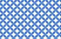 透過背景の青地に白い掠れ模様の和柄:七宝