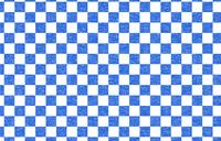 透過背景の青地に白い掠れ模様の和柄:市松