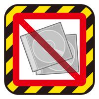CDケースと禁止マーク