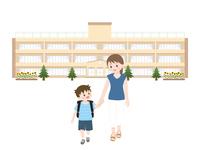 おむかえ 親子のイラスト