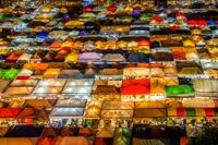 タラートロットファイラチャダーの夜景(タイ王国)