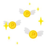 飛ぶポイントコイン