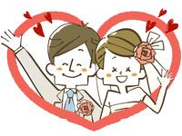 ウェディング-新婚夫婦-ハート