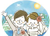 ウェディング-海外挙式-新婚夫婦