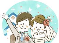 ウェディング-新婚夫婦-教会