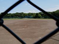 バックネットから見た野球場