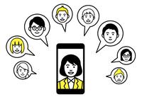 リモートワーク スマートフォン web会議