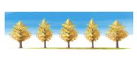 【秋イメージ】おしゃれなイチョウ並木の水彩