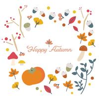 秋をイメージしたイラスト素材のフレーム