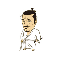 日本の戦国武将:イラスト 織田信長