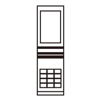 ガラパゴス携帯 白黒